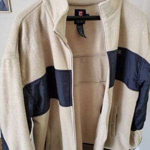 Mens Chaps Zip Up Fleece Jacket Size Large